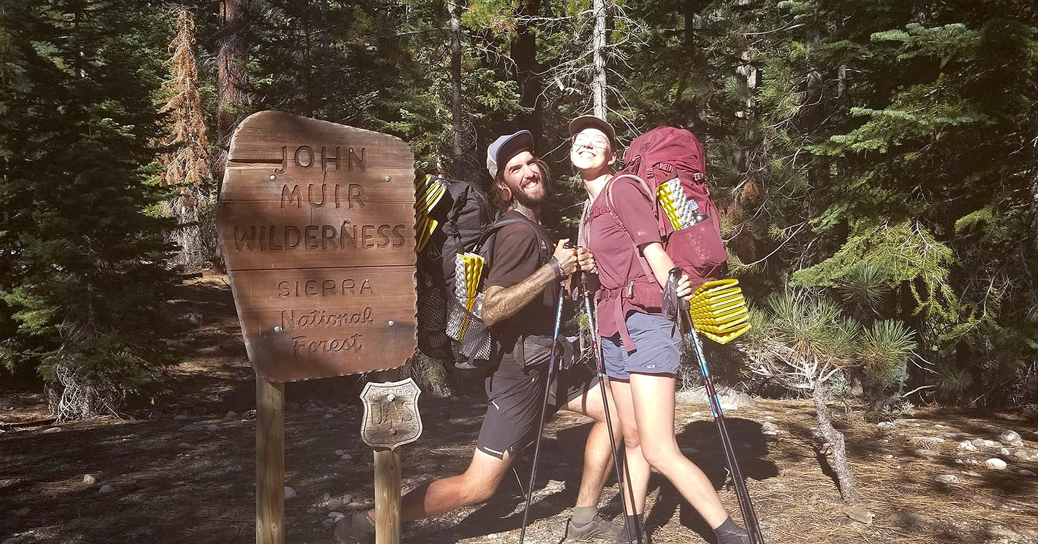 "PREVIOUSLY HIKING the John Muir Trail in California, Logan and Jillian Ivey caught the hiking bug, and now plan to hike the Appalachian Trail while wearing nothing but lavender-colored gear. They also plan to play music along the path and record their songs for fans as a sort of outdoors promotional tour. The tour precedes the release of their new album, ""Inside Outside."""