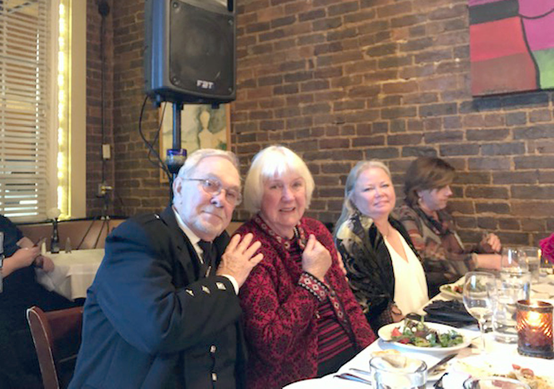 STROKE SURVIVOR Elizabeth Pierce is flanked by her husband, Jack, and their daughter, Kimberly Wood, during a dinner hosted by Erlanger officials at Cafe Roma in Cleveland. Elizabeth, as well as other stroke survivors, were recognized at the dinner.