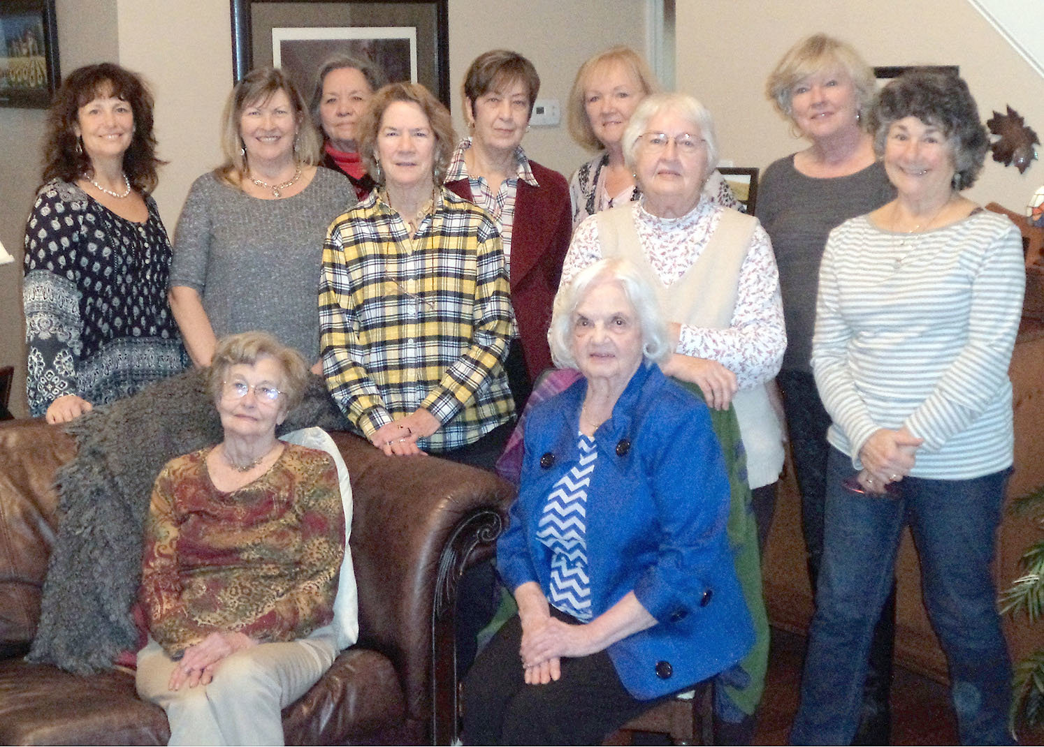 THE WOMEN of the Magnolia Garden Club pose for a photo at their January meeting as they discuss their upcoming Day of Gardening, Feb. 23. They also learned how to make soap from plants. Standing, from left, are Brenda Nakdimen, Sheila Webb, Fredricka Lawson, Beth Cunningham, Sue Taylor, Ginger Cloud, Patsy Bettis, Linda Cross and Bonnie Bain. Seated are Elsie Yates and Annette Stanbery.