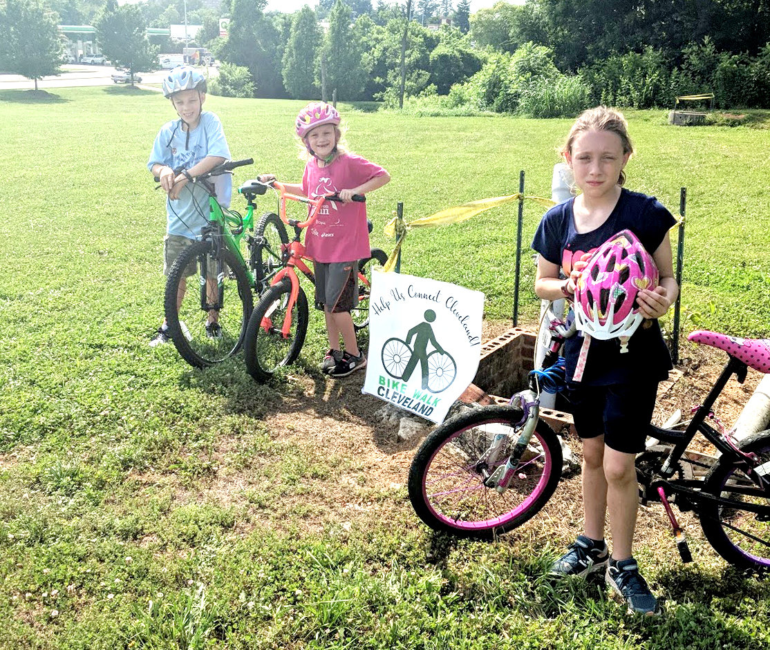 BIKING around town is a more healthy alternative than driving to every location. Aside from its convenience, biking and walking around town allows for a healthier lifestyle for everyone, including the younger generation. These local bikers, from left, are Isaac, 11; Indiana, 7; and Abigail, 9.