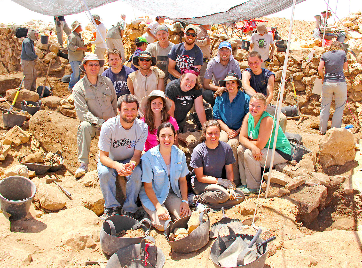 THESE LEE UNIVERSITY students went on a Global Perspectives trip in 2014, along with associate professor Dr. Brian Peterson, to search for Joshua's conquest of the city of Ai.