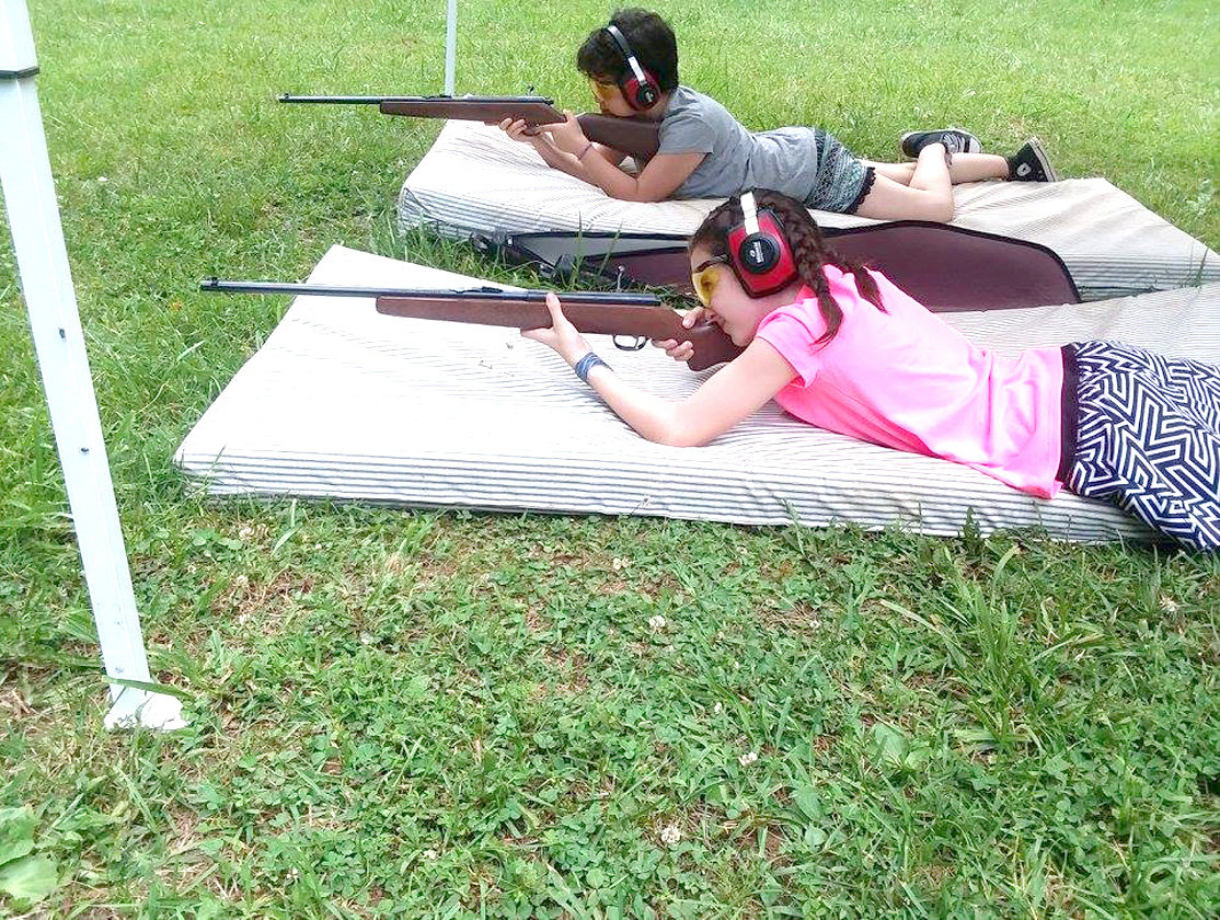One of the activities of the Polk County 4-Her's includes gun safety.