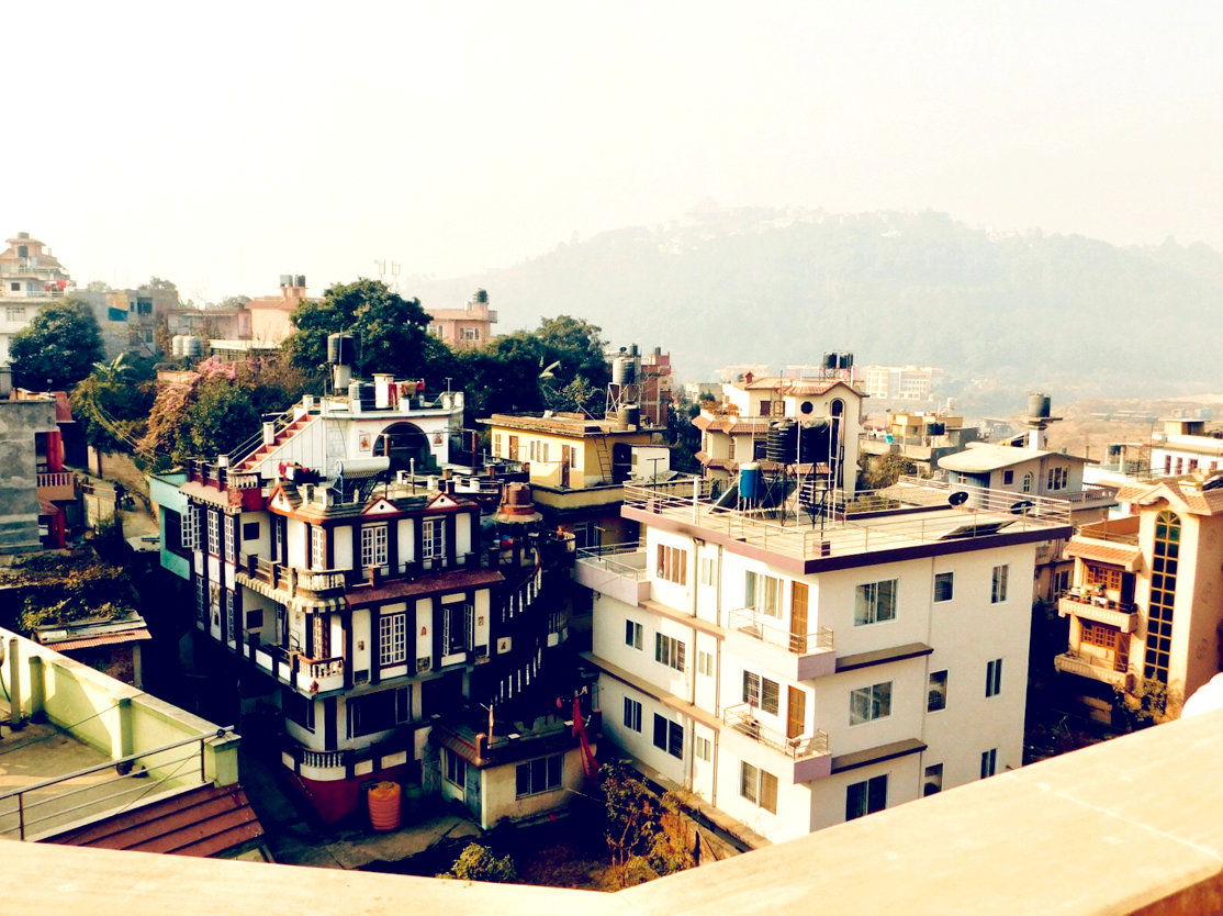THE ROOFTOPS OF KATHMANDU were the view for Emily Ogle and the YWAM mission team who stayed in this city for part of their six-month journey.