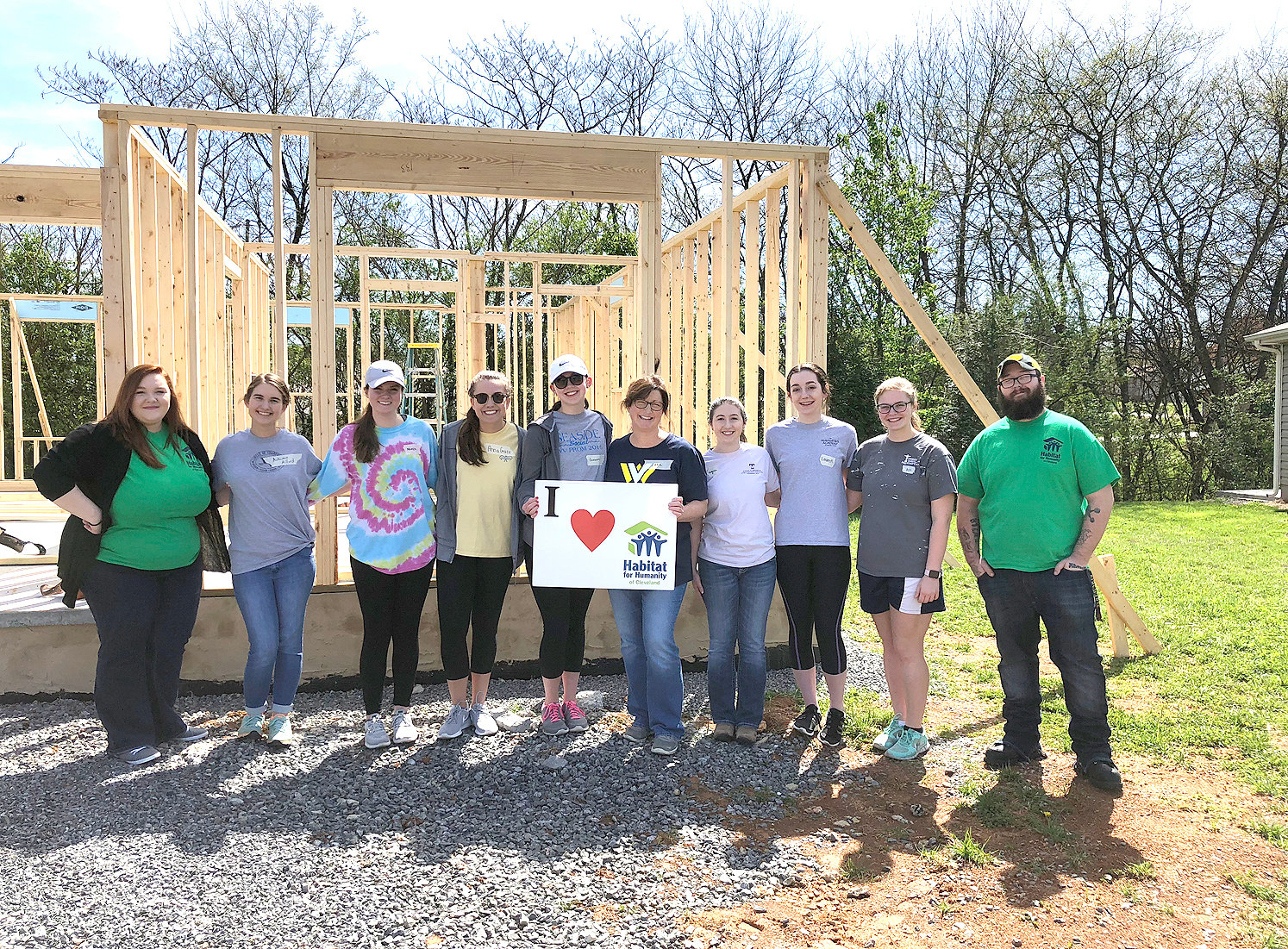 THE WALKER VALLEY High School Habitat for Humanity student chapter enjoys helping our community with affordable housing. Overseen by Walker Valley teacher Josh Justice, the chapter has volunteered with Habitat since 2017. From left are Habitat homeowner Shiloh White, Autumn Millard, Mikayla Beasley, Anna Grace Jackson, Cameron Hutt, Lara Davidson, Virginia Willis, Lauren Harwood, Annie Kate Gibson and Habitat homeowner Marvin 