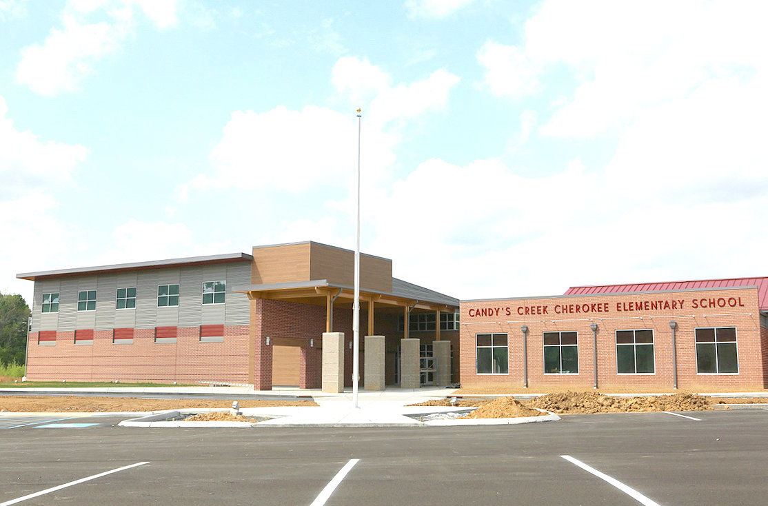 THE NEW SCHOOL opening in Cleveland this fall, Candy's Creek Cherokee Elementary School, is named after a historic Cherokee mission and school. However, the fact that its spelling differs from those of other landmarks nearby has sparked some confusion.