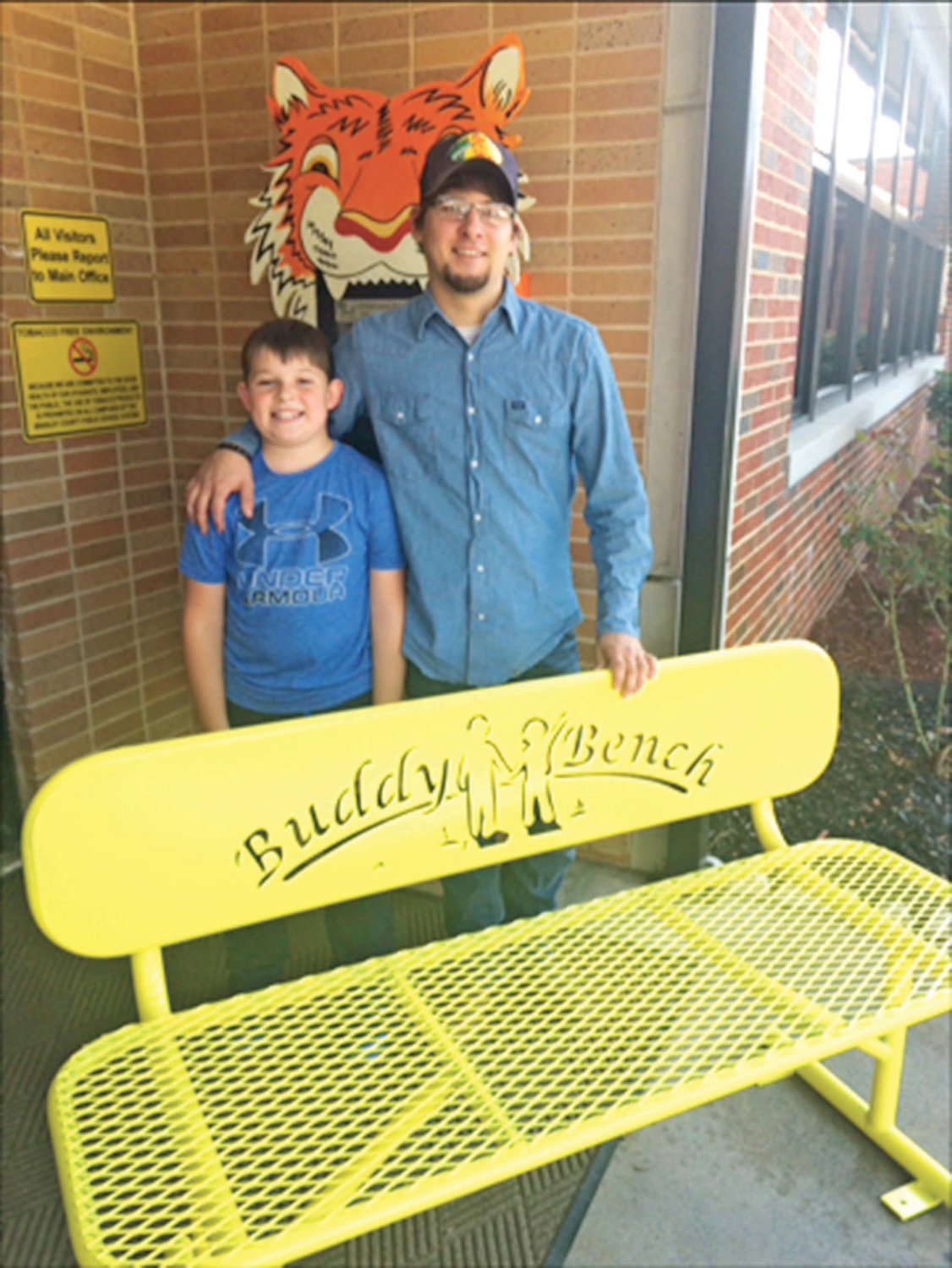 Braddock Tippit, a fourth-grade student at Hopewell Elementary School, realized a dream he's had since the first grade. With the help of his brother, Caleb Hixon, a professional welder, Braddock got to see the installation of a Buddy Bench for the school playground become a reality.