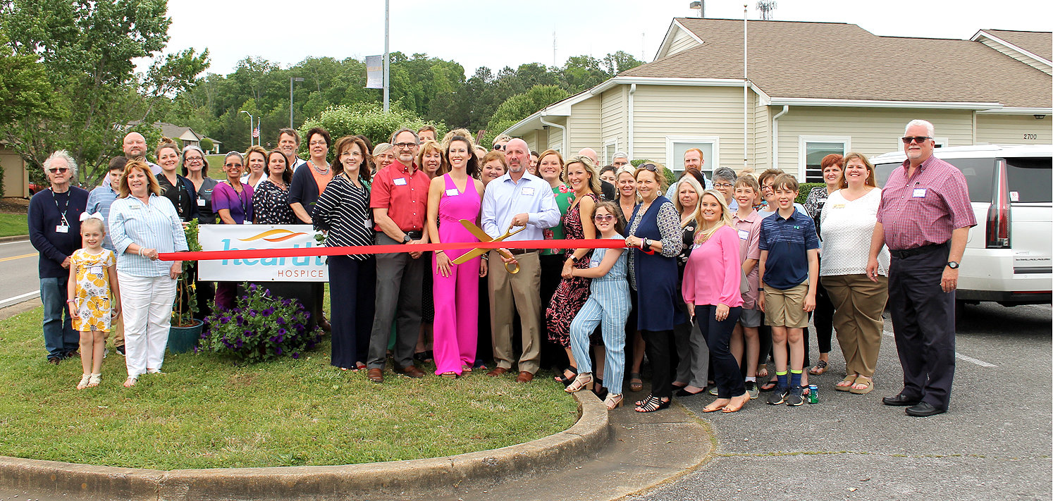 THE STAFF of Hearth Hospice, as well as countless community guests, celebrated the company's brand new location at an open house recently. A ribbon was cut, and the new location on Executive Park Drive was declared officially open for business.