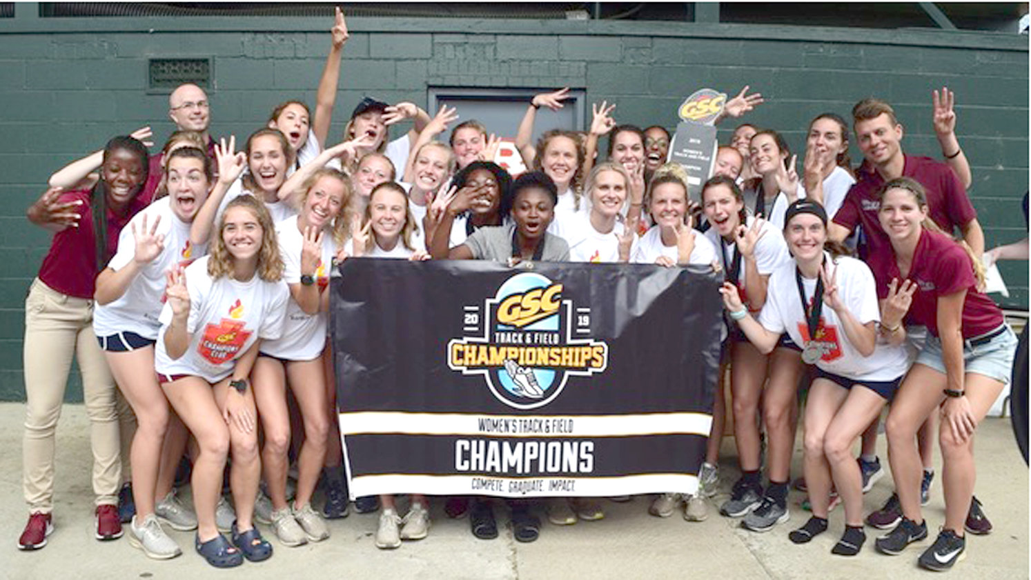 9cf0629520f THE LEE UNIVERSITY women s team captured their third straight Gulf South  Conference championship Saturday in Rome