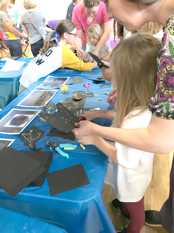 STARS and the constellations they make were the focus of this art activity at Bradley County Schools' STEM on the Greenway.