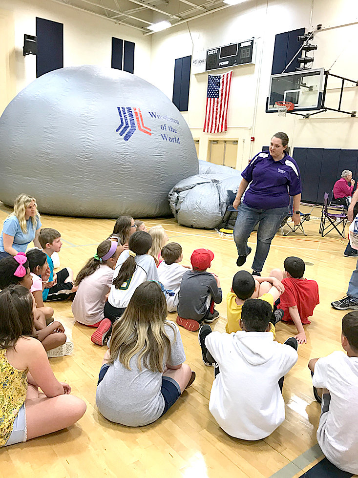 THE STAR LAB provided by Woodmen Life allowed children at STEM on the Greenway to get a taste of what it is like to visit a planetarium.