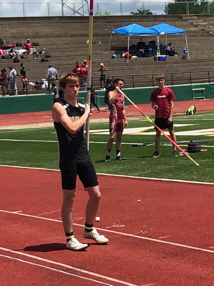 BRADLEY CENTRAL sophomore pole vaulter Clayton Denney will compete against the best in the state Thursday at the TSSAA State Meet in Murfreesboro.