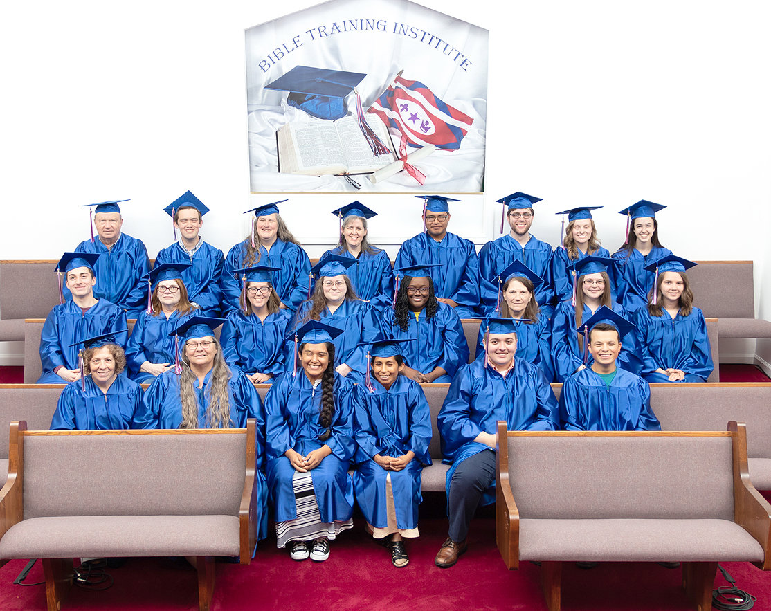The Church of God Bible Training Institute will present diplomas to 22 students who completed the third term of Bible Training Institute. The Commencement will be Saturday at 2 p.m.