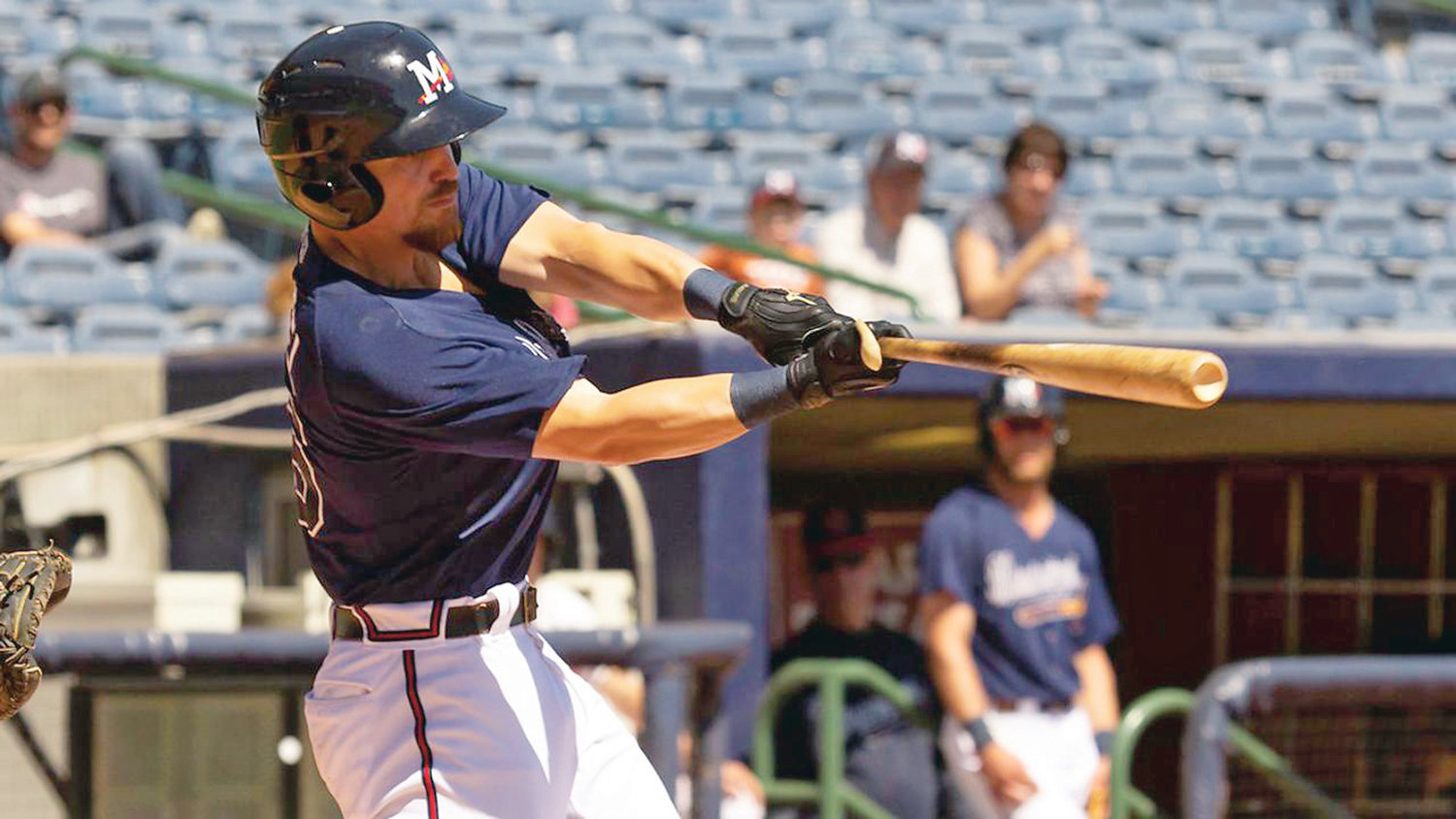 LOCAL PRO Ryan Casteel belted his seventh HR of the season for the Mississippi Braves, plus ripped a single for four RBIs in the first four innings of a rain-suspended game over the weekend against his former team, the Jackson Generals.