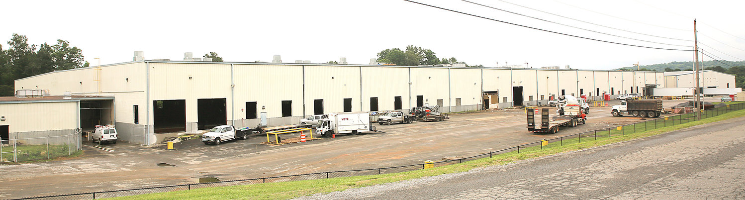 RENOVATIONS are underway at the former Westvaco facility on Old Tasso Road, where Triumph Sheets LLC will soon be conducting operations. The company expects to bring up to 83 jobs to Cleveland.
