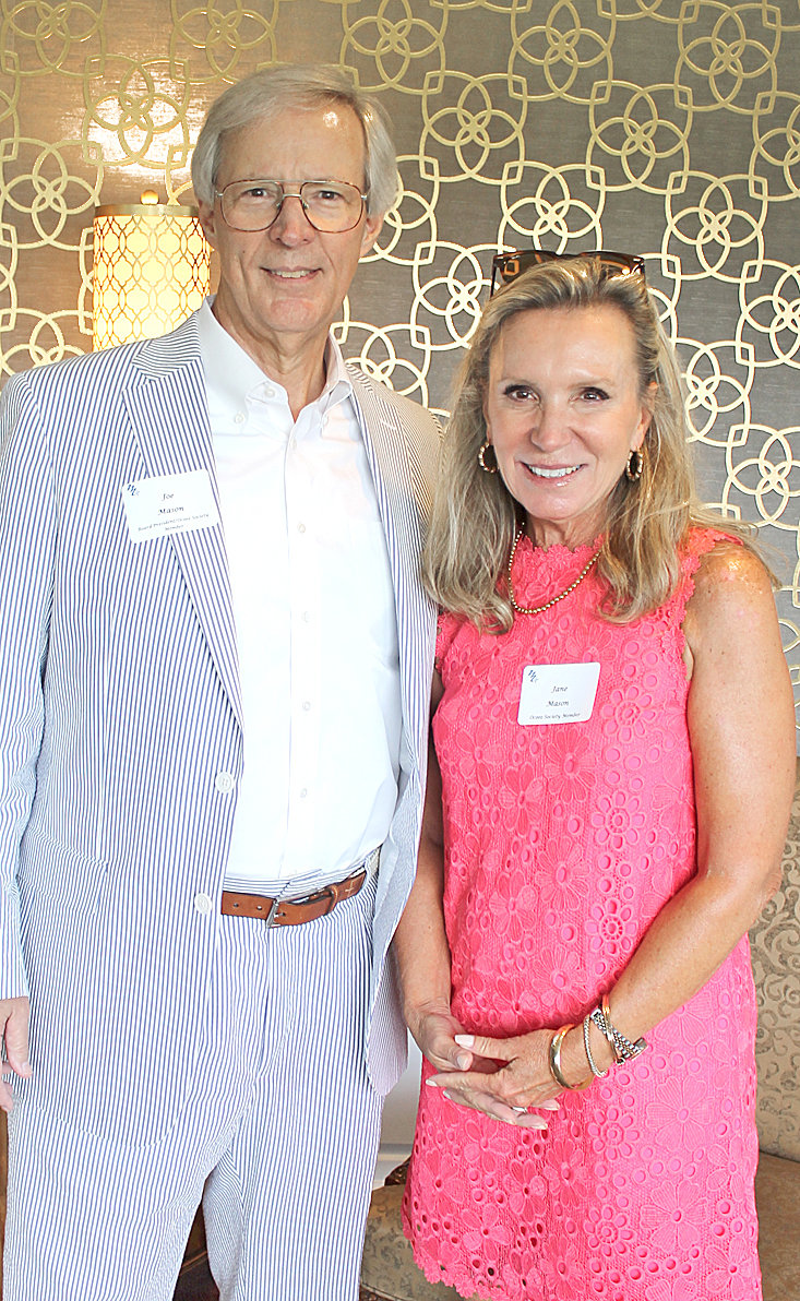 JOE AND JANE MASON take a break from mingling to take a photo at the Museum Center at 5ive Points' Ocoee Society event held at the Cleveland Country Club.