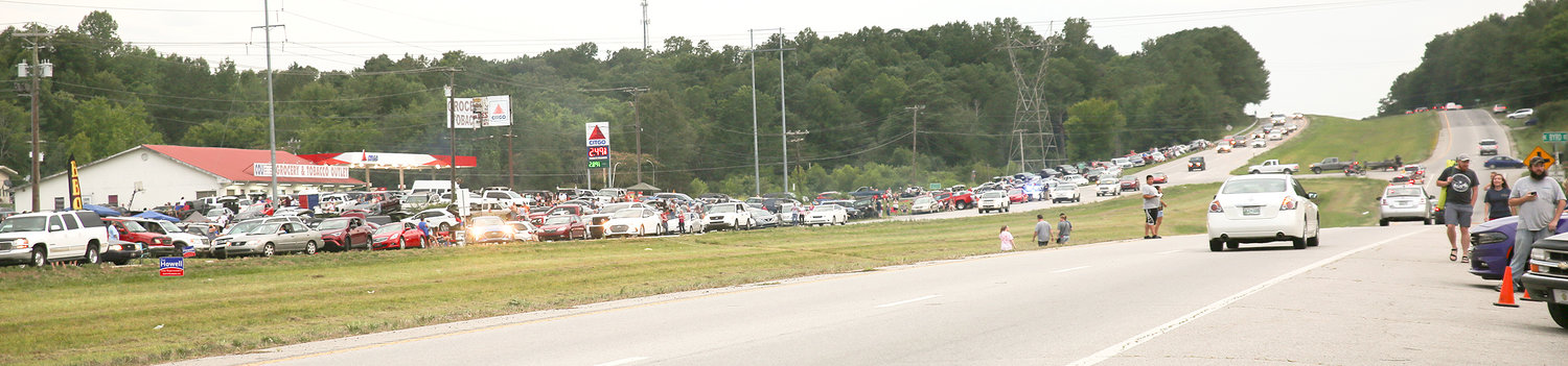 BOTH SIDES OF HIGHWAY 64 were packed with Fourth of July celebrations on Thursday.