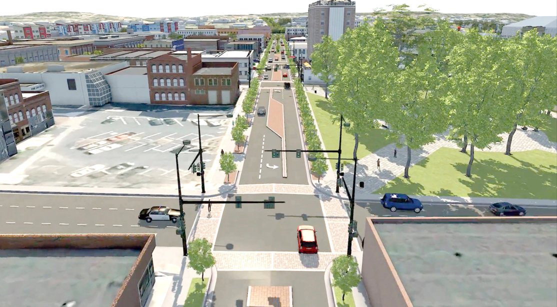 "THE RESULTS of a ""road diet"" that is planned for Inman Street shows a reduction of the street from four to three lanes, which will include a designated turn lane, as well as medians. The transformation will not only be more aesthetically pleasing, but make the areas safer for pedestrians."