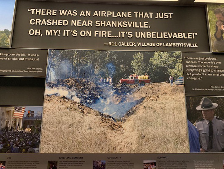 This signage  is part of a memorial to Flight 93, which crashed on Sept. 11, 2001.