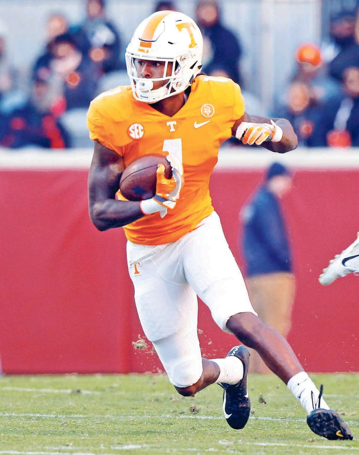 VOLUNTEERS wide receiver Marquez Callaway runs against Kentucky, in Knoxville in this 2018 photo.