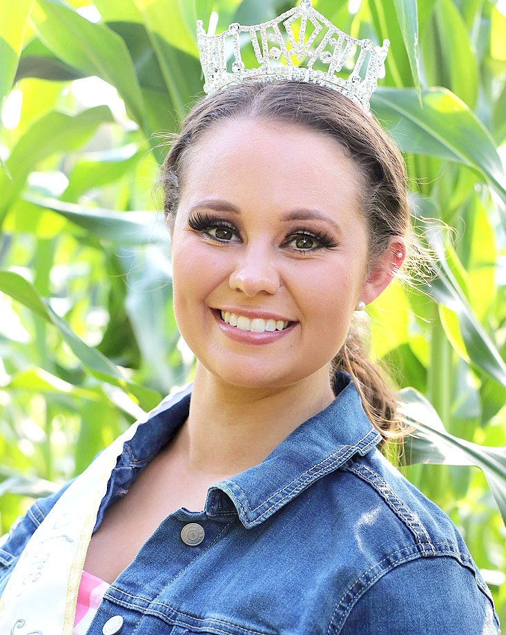 Brittany Krouse Graves smiles after winning the national title for Mrs. America Agriculture in June.
