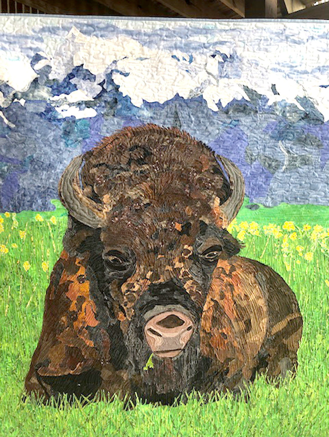 """BIG BISON"" a 45-inch quilt sewn by Sandra Presley, of Charleston, is on display. The quilt will be shown at the American Quilter's Society QuiltWeek show in Paducah, Ky. from Sept. 11-14."