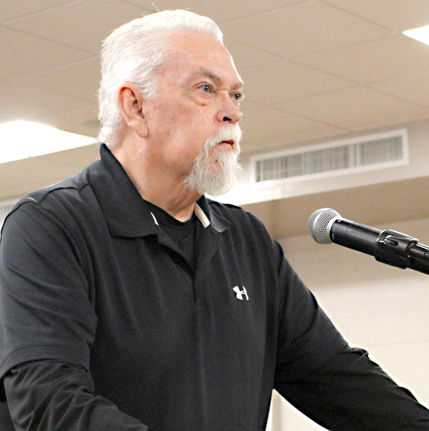 GEORGE CAMPBELL shared his concerns about traffic on Georgetown Road, and how it could be impacted by a rezoning request for property at 6839 Georgetown Road N.W.