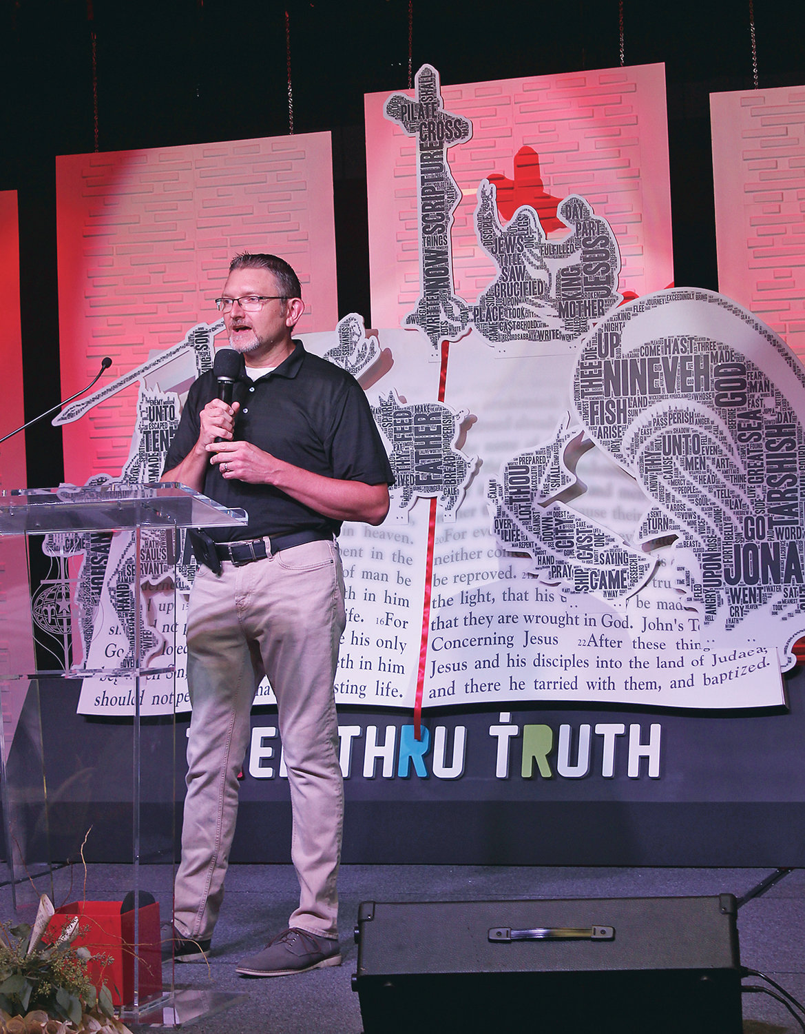 TREK THRU TRUTH founder Doug Caywood provided an update on plans for the Biblical children's museum planned for Cleveland during Saturday evening's gala at the Church of God Ministry Training Center. The first of four phases for the $20 million project will begin immediately with the installation of exhibits in leased space at Bradley Square Mall.