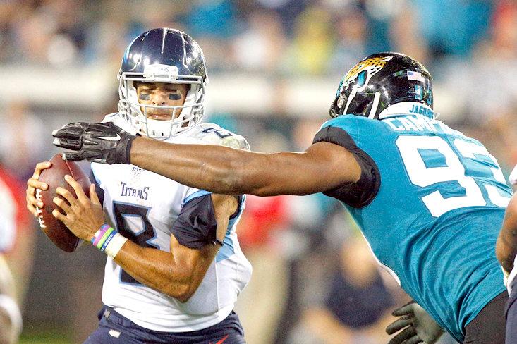 Minshew, air-tight defence dominate as Jaguars thump Titans 20-7