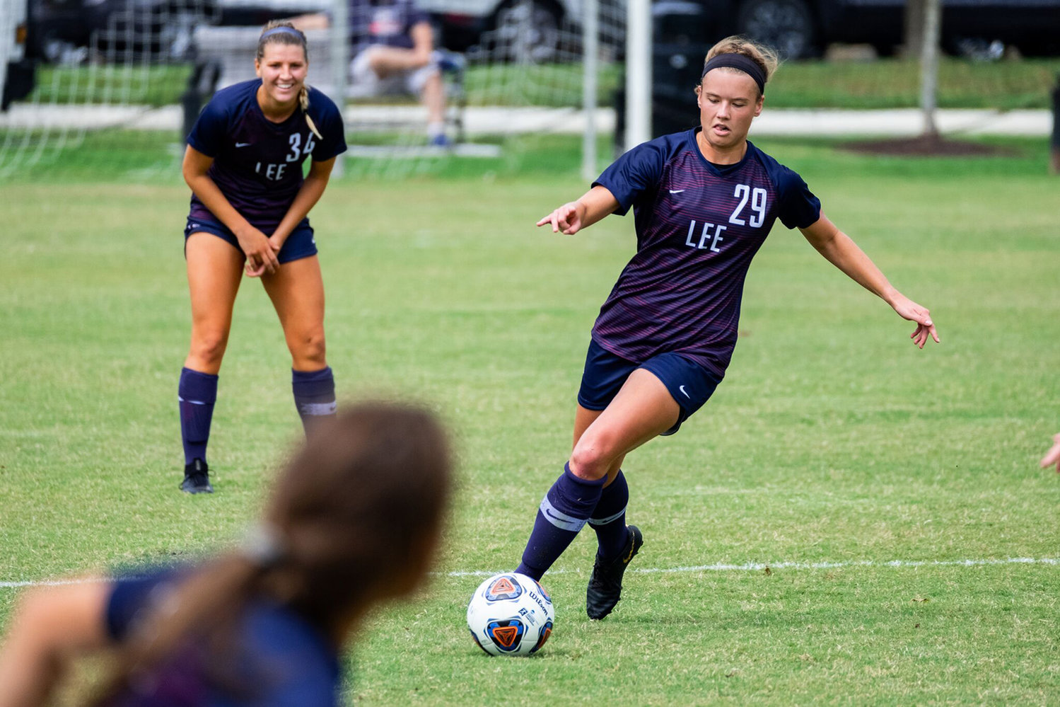 LEE UNIVERSITY junior Kelsey Yoder scored her first goal of 2019 in Sunday's win at CBU, in Memphis.