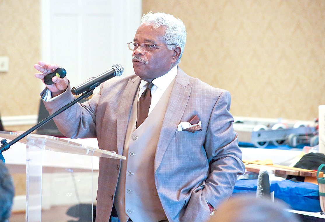 Blue Cross/Blue Shield of Tennessee Vice President of Diversity and Inclusion Ronald Harris speaks during an Industry Appreciation luncheon held Wednesday at the Cleveland Country Club. Harris said members of different generations must be able to communicate to avoid conflicts in the workplace.