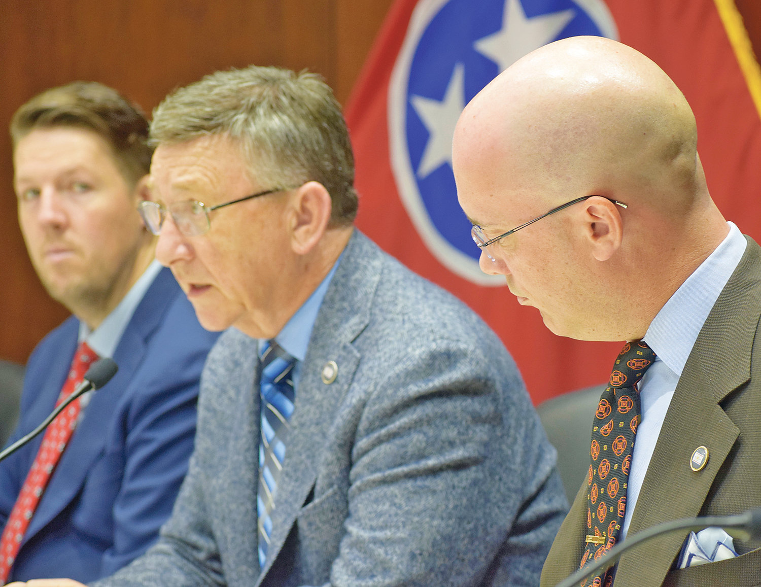 TENNESSEE STATE Rep. Dan Howell (R-Cleveland) presides over the House Transportation Committee hearing that convened in the Legislature's opening week regarding the possibility of bringing Amtrak service to Tennessee.