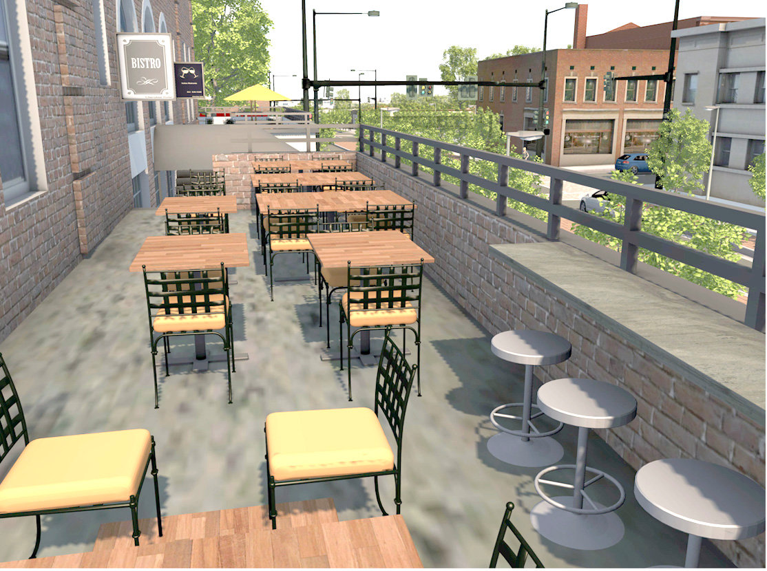 A ROOFTOP RESTAURANT is proposed by the former Cherokee Hotel in downtown Cleveland. The building, which is currently occupied by Cleveland Summit, a government-subsidized housing facility, will be purchased by the city and marketed to private developers when Cleveland Summit's new facility is completed within the next two years.