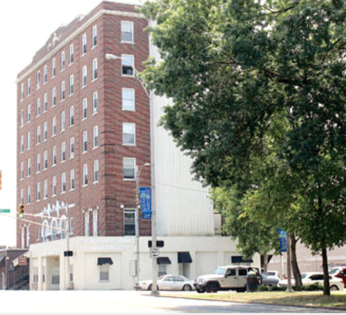 THE FORMER Cherokee Hotel, which was closed during the 1960s, houses Cleveland Summit apartments. A new facility will be built to house residents of the former hotel, which the city plans to restore as part of its downtown revitalization plan.