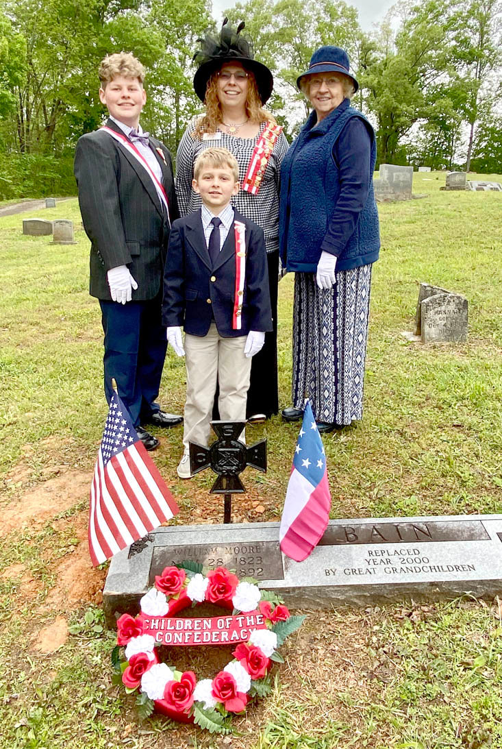 AMONG THOSE attending the grave-marker ceremony for William Moore Bain, were several family descendants.