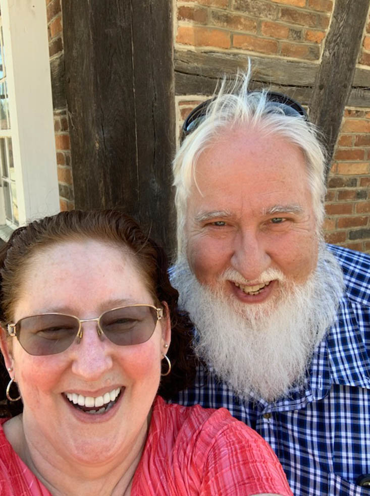 Robin and I at Old Salem (N.C.) on one of our first dates in March.