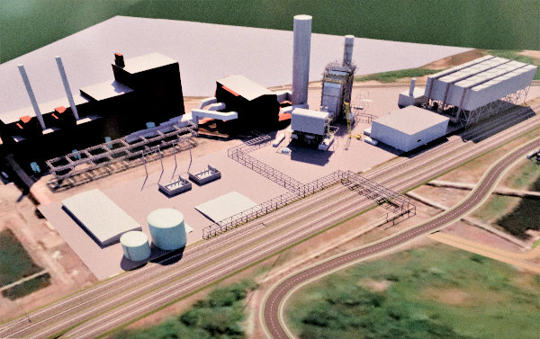 A rendering of the proposed gas powered Danskammer power plant.