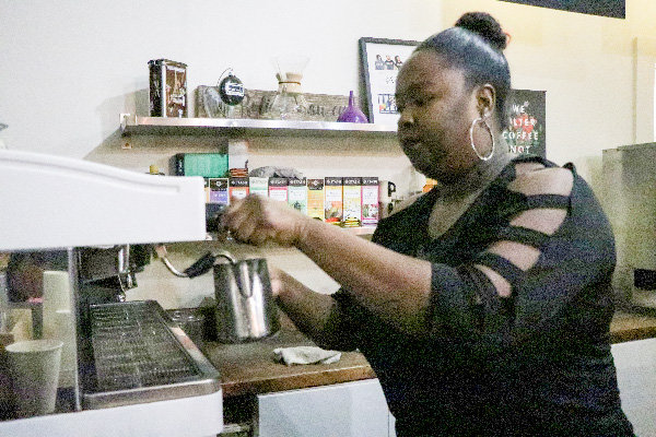 At Blacc Vanilla Cafe, Parker is everyone's favorite barista.
