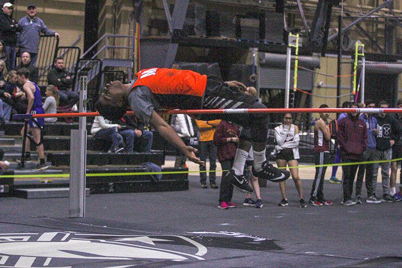 Marlboro's Armani Banton was first in the high jump.
