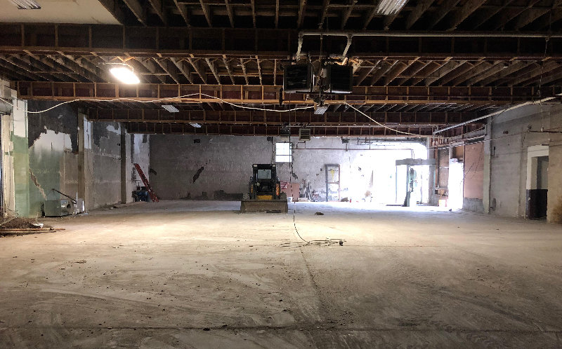 The inside of the building was completely gutted in order to pave the way for the new design.