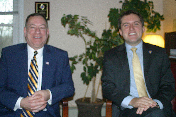Orange County Legislator Mike Anagnostakis (l.) is a senior advisor for States Senator James Skoufis.