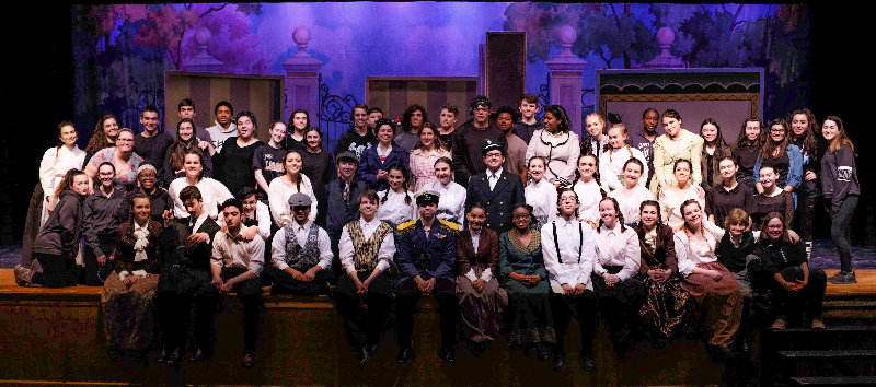 The full cast and crew of the 2019 Marlboro Spring musical, 'Mary Poppins'.