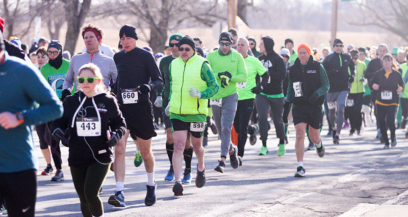 Runners took off on winter's final Sunday with a strong head wind during Wallkill's annual 5K race to celebrate St. Patrick's Day.