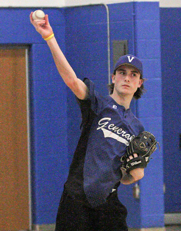 Greg Osterhout will pitch and play first for the Vikings this spring.