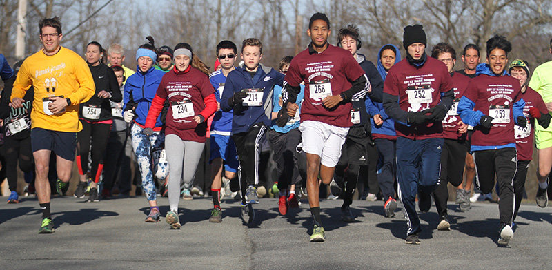More than 70 runners and walkers participated in the 5K race Sunday.