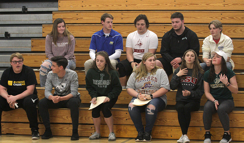 Valley Central honored 11 student-athletes who have committed to play collegiate sports.