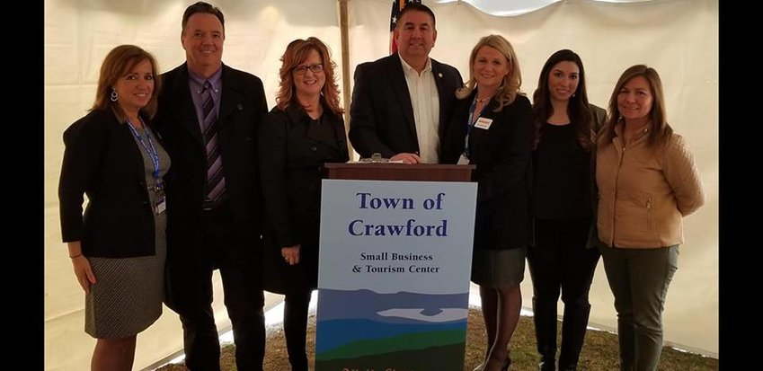 Crawford town officials and a host of dignitaries were on hand for the opening last weekend. Photo provided.