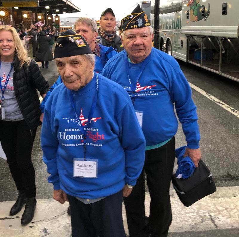 Anthony Mancinelli, 108, and his son Robert received VIP treatment.