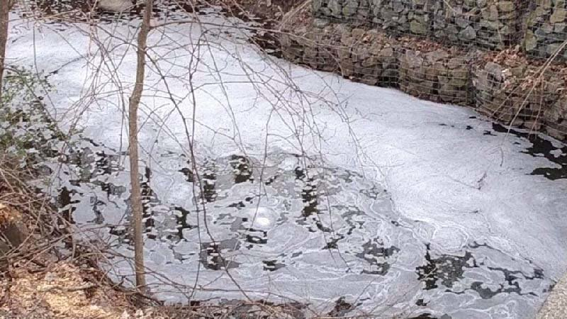 The C6 foam moved from a retention pond into Silver Stream, a tributary of Washington Lake.