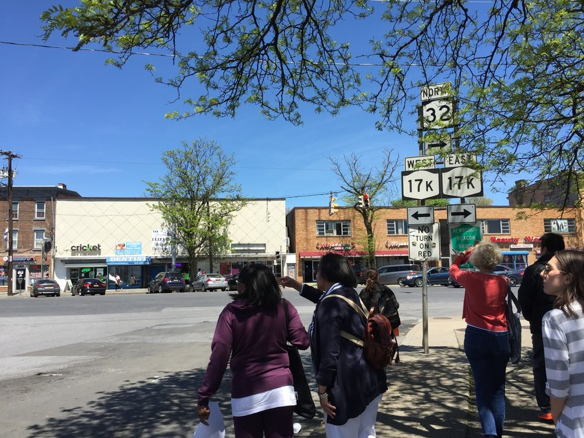 Participants walked the Lake Street corridor outside the activity center to see first hand the condition of the area.
