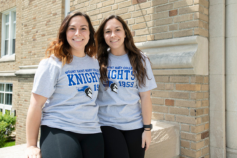 Mount Saint Mary College's Alyssa and Chrysta Kotash, senior Nursing majors.